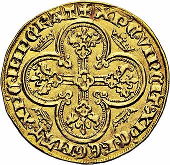 Ogn numismatique ARCHIVES VENTE 2015 -26-28 oct -Coll Jean Teitgen ROYALES FRANCAISES PHILIPPE VI DE VALOIS(1er avril 1328-22 août 1350)  Royal d'or (2 mai 1328).