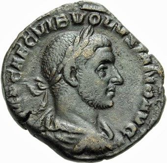 Ogn numismatique MONNAIES EMPIRE ROMAIN VOLUSIEN (César 251 - Auguste 251-253)  Sesterce, Rome.