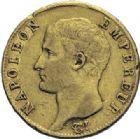 Photo numismatique  ARCHIVES VENTE 2014 -Coll J P Dixméras MODERNES FRANÇAISES NAPOLEON Ier, empereur (18 mai 1804- 6 avril 1814)  609- 20 francs or, Limoges an 14.