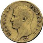 Photo numismatique  ARCHIVES VENTE 2014 -Coll J P Dixméras MODERNES FRANÇAISES NAPOLEON Ier, empereur (18 mai 1804- 6 avril 1814)  607- 20 francs or, Nantes an 13.