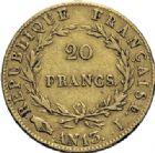 Photo numismatique  ARCHIVES VENTE 2014 -Coll J P Dixméras MODERNES FRANÇAISES NAPOLEON Ier, empereur (18 mai 1804- 6 avril 1814)  605- 20 francs or, Limoges an 13.