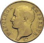 Photo numismatique  ARCHIVES VENTE 2014 -Coll J P Dixméras MODERNES FRANÇAISES NAPOLEON Ier, empereur (18 mai 1804- 6 avril 1814)  602- 40 francs or, Turin an 14.