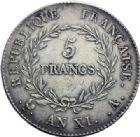 Photo numismatique  ARCHIVES VENTE 2014 -Coll J P Dixméras MODERNES FRANÇAISES BONAPARTE, 1er consul (24 décembre 1799-18 mai 1804)  593- 5 francs, Paris an XI.