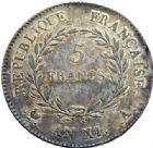 Photo numismatique  ARCHIVES VENTE 2014 -Coll J P Dixméras MODERNES FRANÇAISES BONAPARTE, 1er consul (24 décembre 1799-18 mai 1804)  592- 5 francs, Paris an XI.