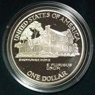 Photo numismatique  MONNAIES MONNAIES DU MONDE ÉTATS-UNIS d'AMÉRIQUE du NORD Depuis 1776 Silver dollar  du centenaire du Général Eisenhower, 1990.