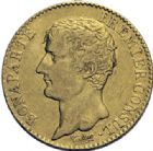 Photo numismatique  ARCHIVES VENTE 2014 -Coll J P Dixméras MODERNES FRANÇAISES BONAPARTE, 1er consul (24 décembre 1799-18 mai 1804)  590- 20 francs or, Paris an XI.