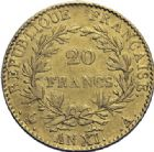 Photo numismatique  ARCHIVES VENTE 2014 -Coll J P Dixméras MODERNES FRANÇAISES BONAPARTE, 1er consul (24 décembre 1799-18 mai 1804)  590- 20 francs or, Paris an XI.