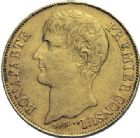Photo numismatique  ARCHIVES VENTE 2014 -Coll J P Dixméras MODERNES FRANÇAISES BONAPARTE, 1er consul (24 décembre 1799-18 mai 1804)  589- 40 francs or, Paris an 12.