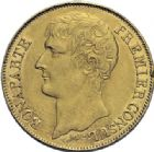 Photo numismatique  ARCHIVES VENTE 2014 -Coll J P Dixméras MODERNES FRANÇAISES BONAPARTE, 1er consul (24 décembre 1799-18 mai 1804)  588- 40 francs or, Paris an 12.