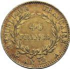 Photo numismatique  ARCHIVES VENTE 2014 -Coll J P Dixméras MODERNES FRANÇAISES BONAPARTE, 1er consul (24 décembre 1799-18 mai 1804)  587- 40 francs or, Paris an 12.