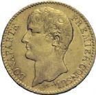 Photo numismatique  ARCHIVES VENTE 2014 -Coll J P Dixméras MODERNES FRANÇAISES BONAPARTE, 1er consul (24 décembre 1799-18 mai 1804)  586- 40 francs or, Paris an XI.