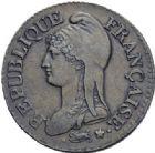 Photo numismatique  ARCHIVES VENTE 2014 -Coll J P Dixméras MODERNES FRANÇAISES LE CONSULAT (à partir du 24 décembre 1799-18 mai 1804)  584- Cinq centimes, Lille an 8 sur 7.