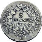 Photo numismatique  ARCHIVES VENTE 2014 -Coll J P Dixméras MODERNES FRANÇAISES LE CONSULAT (à partir du 24 décembre 1799-18 mai 1804)  581- 5 francs, Perpignan an 8 et *an 11, *Bordeaux an 9.