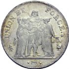 Photo numismatique  ARCHIVES VENTE 2014 -Coll J P Dixméras MODERNES FRANÇAISES LE CONSULAT (à partir du 24 décembre 1799-18 mai 1804)  579- 5 francs, Paris an 10.