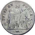 Photo numismatique  ARCHIVES VENTE 2014 -Coll J P Dixméras MODERNES FRANÇAISES LE CONSULAT (à partir du 24 décembre 1799-18 mai 1804)  577- 5 francs, Bordeaux an 8.