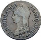 Photo numismatique  ARCHIVES VENTE 2014 -Coll J P Dixméras MODERNES FRANÇAISES LE DIRECTOIRE (27 octobre 1795-10 novembre 1799)  576- 5 centimes, Paris an 7.
