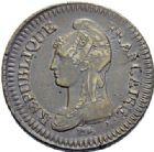 Photo numismatique  ARCHIVES VENTE 2014 -Coll J P Dixméras MODERNES FRANÇAISES LE DIRECTOIRE (27 octobre 1795-10 novembre 1799)  573- Un décime, modification de 2 décimes, Paris an 5.