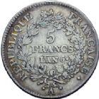Photo numismatique  ARCHIVES VENTE 2014 -Coll J P Dixméras MODERNES FRANÇAISES LE DIRECTOIRE (27 octobre 1795-10 novembre 1799)  570- 5 francs, Paris an 5, *an 6 et an 7, *Bayonne an 7.