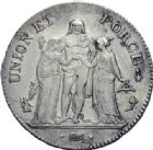 Photo numismatique  ARCHIVES VENTE 2014 -Coll J P Dixméras MODERNES FRANÇAISES LE DIRECTOIRE (27 octobre 1795-10 novembre 1799)  569- 5 francs, Paris an 4.