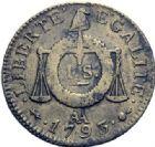 Photo numismatique  ARCHIVES VENTE 2014 -Coll J P Dixméras MODERNES FRANÇAISES LA CONVENTION (22 septembre 1792 - 26 octobre 1795)  567- 2 sols, Strasbourg 1793 – Sol 1793 Lyon, *Metz, Strasbourg, *Lille.