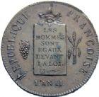 Photo numismatique  ARCHIVES VENTE 2014 -Coll J P Dixméras MODERNES FRANÇAISES LA CONVENTION (22 septembre 1792 - 26 octobre 1795)  566- 2 sols à la balance, Rouen 1793.