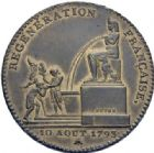 Photo numismatique  ARCHIVES VENTE 2014 -Coll J P Dixméras MODERNES FRANÇAISES LA CONVENTION (22 septembre 1792 - 26 octobre 1795)  565- Essai de 5 décimes, Paris an II.