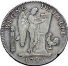 Photo numismatique  ARCHIVES VENTE 2014 -Coll J P Dixméras MODERNES FRANÇAISES LA CONVENTION (22 septembre 1792 - 26 octobre 1795)  564- Ecu de six livres, Paris 1793.