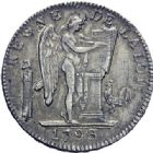 Photo numismatique  ARCHIVES VENTE 2014 -Coll J P Dixméras MODERNES FRANÇAISES LA CONVENTION (22 septembre 1792 - 26 octobre 1795)  563- Ecu de six livres, Lille 1793 an II.