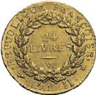 Photo numismatique  ARCHIVES VENTE 2014 -Coll J P Dixméras MODERNES FRANÇAISES LA CONVENTION (22 septembre 1792 - 26 octobre 1795)  562- Louis d'or de 24 livres, Lille 1793 an II.