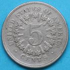 Photo numismatique  MONNAIES MONNAIES DU MONDE ÉTATS-UNIS d'AMÉRIQUE du NORD  5 cents de 1866.