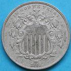 Photo numismatique  MONNAIES MONNAIES DU MONDE ÉTATS-UNIS d'AMÉRIQUE du NORD  5 cents de 1868.