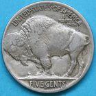 Photo numismatique  MONNAIES MONNAIES DU MONDE ÉTATS-UNIS d'AMÉRIQUE du NORD  5 cents Buffalo de 1917.