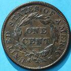 Photo numismatique  MONNAIES MONNAIES DU MONDE ÉTATS-UNIS d'AMÉRIQUE du NORD  One cent de 1835.