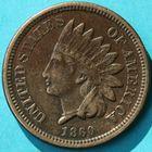 Photo numismatique  MONNAIES MONNAIES DU MONDE ÉTATS-UNIS d'AMÉRIQUE du NORD  One cent de 1860.