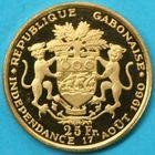Photo numismatique  MONNAIES MONNAIES DU MONDE GABON République (depuis 1960) LEON MBA président 25 francs or de 1960.