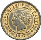Photo numismatique  MONNAIES MONNAIES DU MONDE HAÏTI République (depuis 1804) Essai de 20 centimes de 1877.