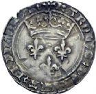 Photo numismatique  ARCHIVES VENTE 2014 -Coll J P Dixméras ROYALES FRANCAISES CHARLES VII (30 octobre 1422-22 juillet 1461)  259- Gros de Roi de la 2ème émission, Lyon (26 mai 1447).