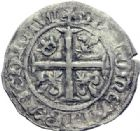 Photo numismatique  ARCHIVES VENTE 2014 -Coll J P Dixméras ROYALES FRANCAISES CHARLES VII (30 octobre 1422-22 juillet 1461)  258- Blanc à la couronnelle, le Mont-Saint-Michel (21 janvier 1423).