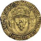 Photo numismatique  ARCHIVES VENTE 2014 -Coll J P Dixméras ROYALES FRANCAISES CHARLES VII (30 octobre 1422-22 juillet 1461)  257- Lot de 2 monnaies d'or.