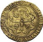 Photo numismatique  ARCHIVES VENTE 2014 -Coll J P Dixméras ROYALES FRANCAISES CHARLES VII (30 octobre 1422-22 juillet 1461)  257- Lot de 2 monnaies d'or.
