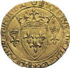 Photo numismatique  ARCHIVES VENTE 2014 -Coll J P Dixméras ROYALES FRANCAISES CHARLES VII (30 octobre 1422-22 juillet 1461)  256- Ecu neuf, 3ème type, 3ème à 6èmeémission (12 août 1445), Montpellier.