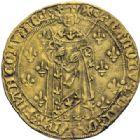 Photo numismatique  ARCHIVES VENTE 2014 -Coll J P Dixméras ROYALES FRANCAISES CHARLES VII (30 octobre 1422-22 juillet 1461)  254- Royal d'or de la 2ère émission (5 avril 1431), Angers.
