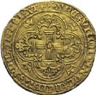 Photo numismatique  ARCHIVES VENTE 2014 -Coll J P Dixméras ROYALES FRANCAISES CHARLES VII (30 octobre 1422-22 juillet 1461)  254- Royal d'or de la 2ère émission (5 avril 1431), Angers.