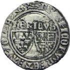 Photo numismatique  ARCHIVES VENTE 2014 -Coll J P Dixméras ROYALES FRANCAISES HENRI VI, roi de France et d'Angleterre (31 octobre 1422–19 octobre 1453)  253- Blanc aux écus, Rouen (2) et niquet de Henri V.