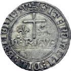 Photo numismatique  ARCHIVES VENTE 2014 -Coll J P Dixméras ROYALES FRANCAISES HENRI VI, roi de France et d'Angleterre (31 octobre 1422–19 octobre 1453)  252- Blanc aux écus, Rouen.
