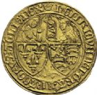 Photo numismatique  ARCHIVES VENTE 2014 -Coll J P Dixméras ROYALES FRANCAISES HENRI VI, roi de France et d'Angleterre (31 octobre 1422–19 octobre 1453)  251- Salut d'or de la 2ème émission (6 septembre 1423), Paris.