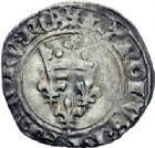 Photo numismatique  ARCHIVES VENTE 2014 -Coll J P Dixméras ROYALES FRANCAISES CHARLES VI (16 septembre 1380-21 octobre 1422)  250- Lot de 7 monnaies d'Angers.
