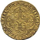 Photo numismatique  ARCHIVES VENTE 2014 -Coll J P Dixméras ROYALES FRANCAISES CHARLES VI (16 septembre 1380-21 octobre 1422)  246- Ecu d'or de la 3ème émission (11 septembre 1389), Toulouse.