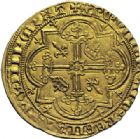 Photo numismatique  ARCHIVES VENTE 2014 -Coll J P Dixméras ROYALES FRANCAISES CHARLES V (8 avril 1364-16 septembre 1380)  243- Franc d'or à pied (20 avril 1365).