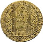 Photo numismatique  ARCHIVES VENTE 2014 -Coll J P Dixméras ROYALES FRANCAISES CHARLES V (8 avril 1364-16 septembre 1380)  242- Franc d'or à pied (20 avril 1365).